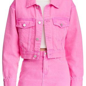 [BLANKNYC] Women's Cropped Short Denim Jacket- LG